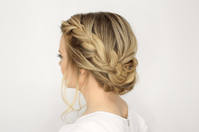 Fancy French Braid Updo