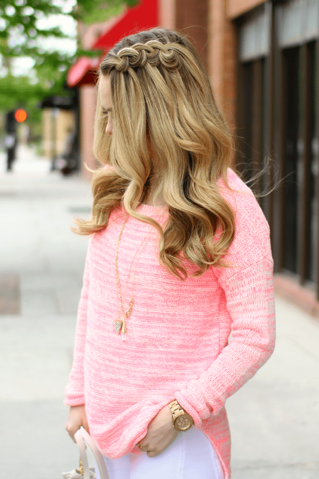 swirl-knotted-braid-pink-sweater