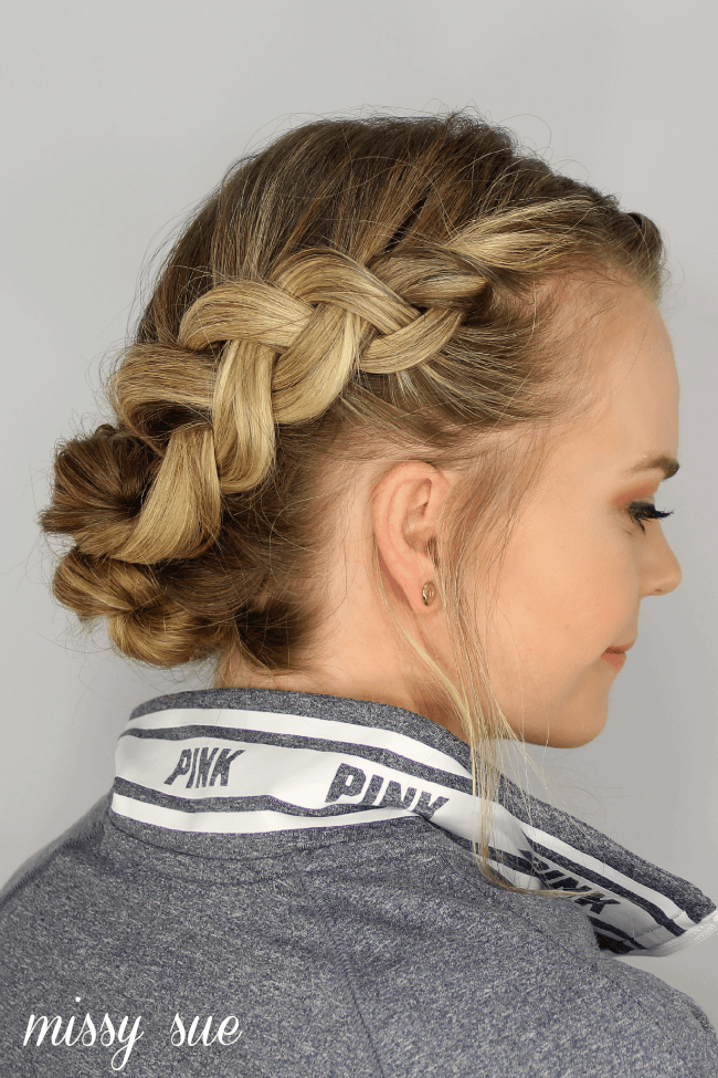 dutch-braid-messy-bun-updo