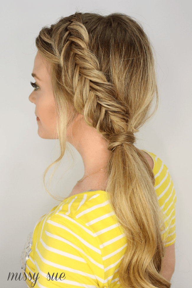 Dutch fishtail side pony for Fish tail hair