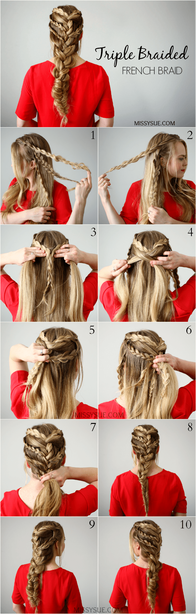 Triple-braided-french-braid