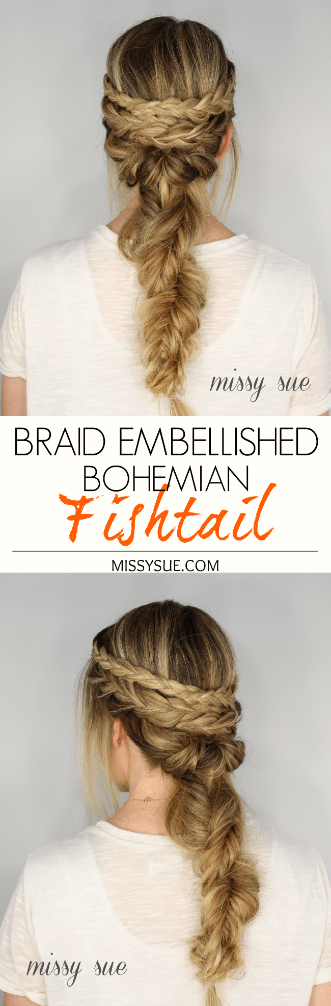 Braid Embellished Bohemian Fishtail