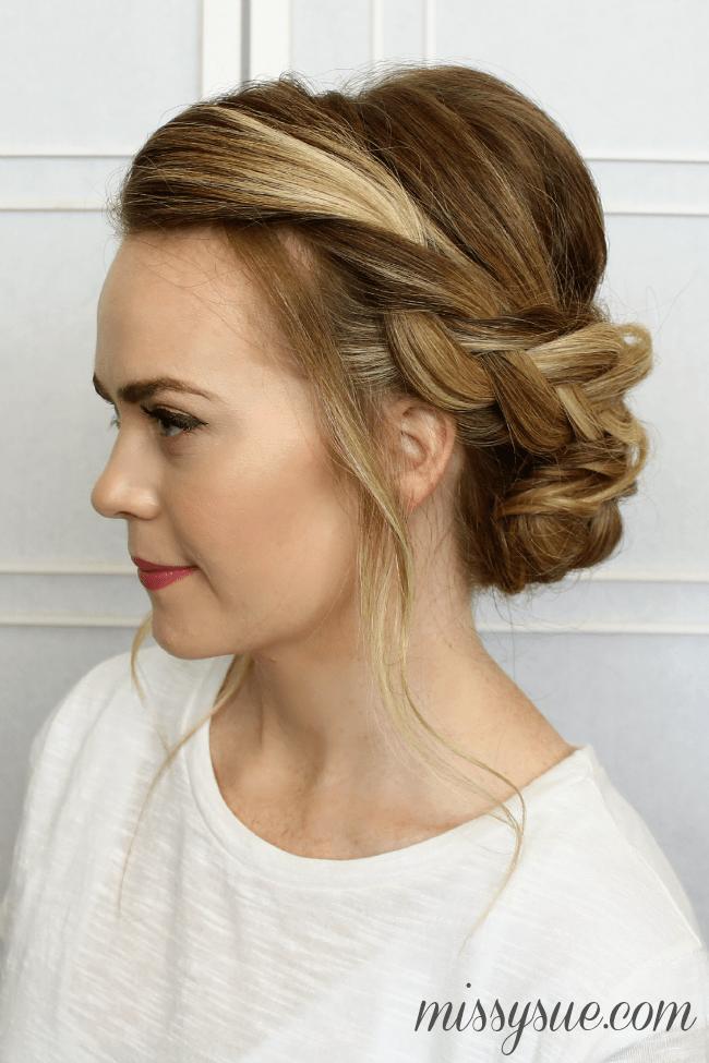 Astonishing Soft Braided Updo Missy Sue Hairstyles For Men Maxibearus