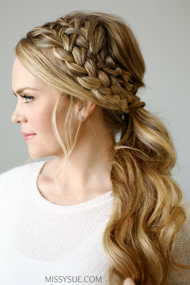 Swell Double Braided Ponytail Hairstyle Inspiration Daily Dogsangcom