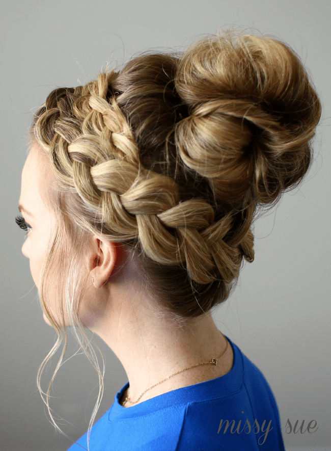 dutch-braided-top-knot-messy-bun