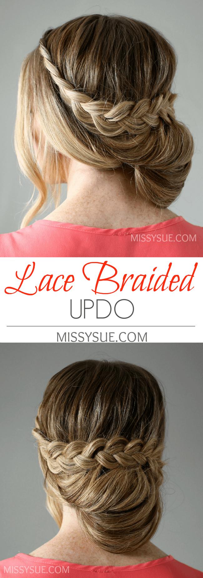 Lace Braid Wrapped Bun