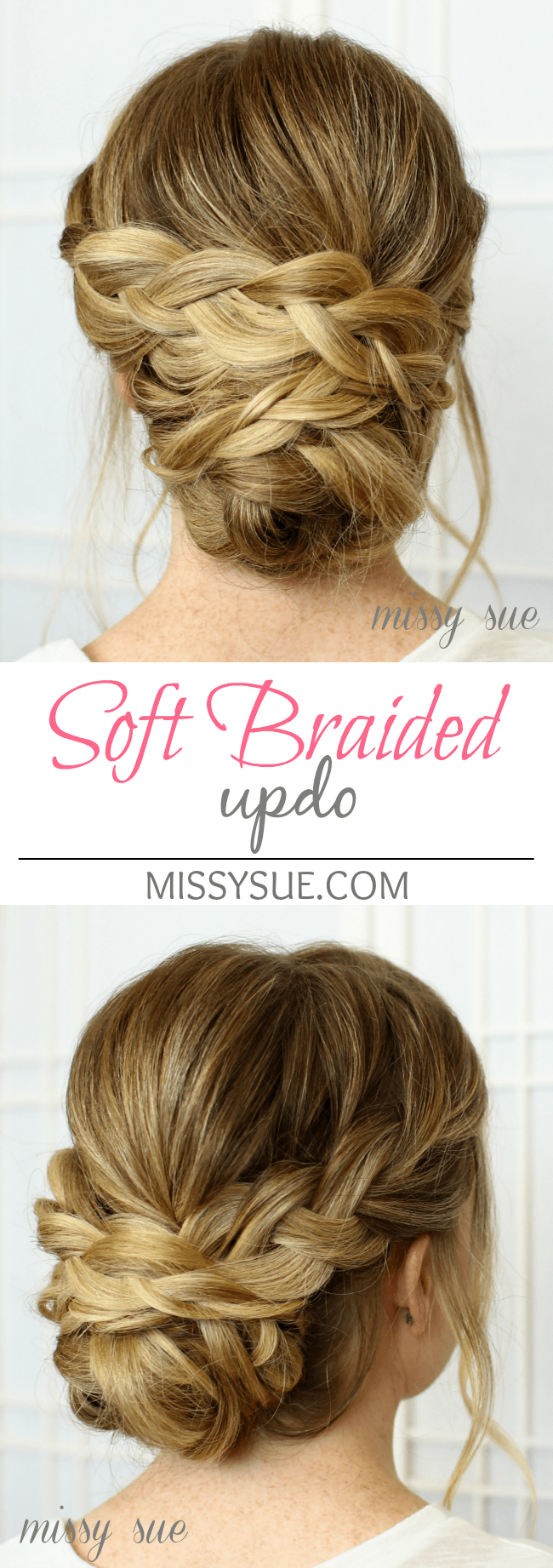 Soft braided updo soft braided updo bridal hairstyle junglespirit Choice Image