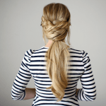 Braid Wrapped Criss-Cross Ponytail