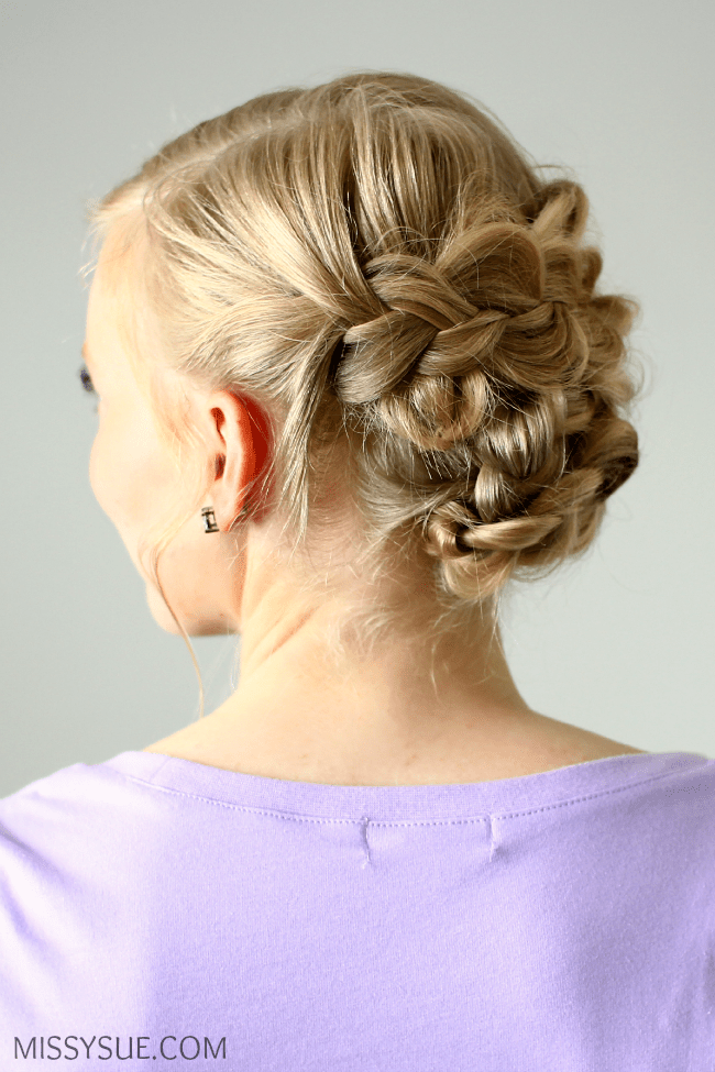 Braided Updo for Shorter Hair