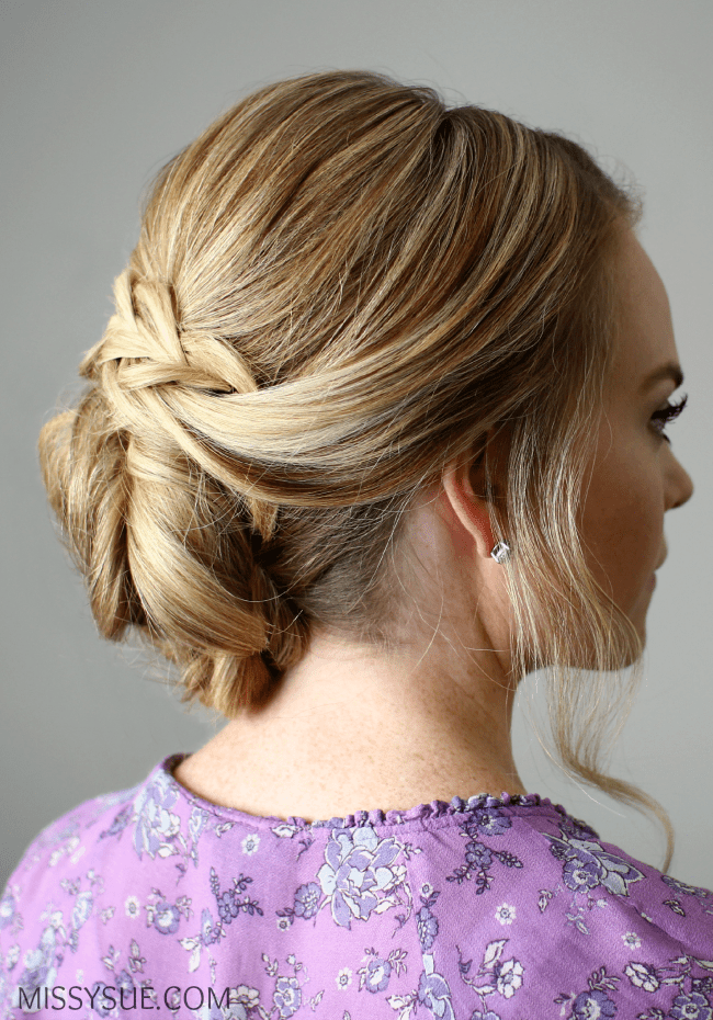 Looped Braid Updo
