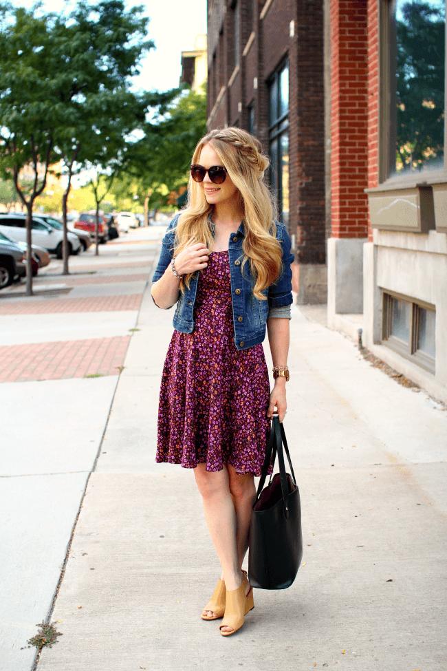 denim-jacket-purple-swing-dress