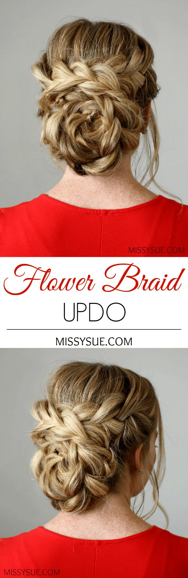 Flower Braid Updo