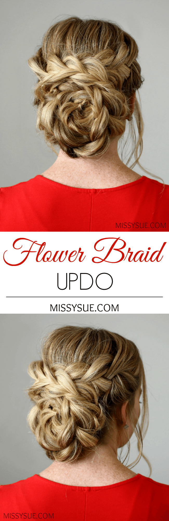 Awe Inspiring Flower Braid Updo Missy Sue Short Hairstyles For Black Women Fulllsitofus