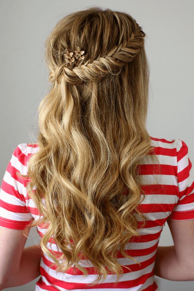 Marvelous Half Up Fishtail French Braids Hairstyles For Women Draintrainus
