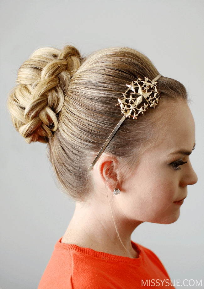 dutch-braid-top-knot-bun