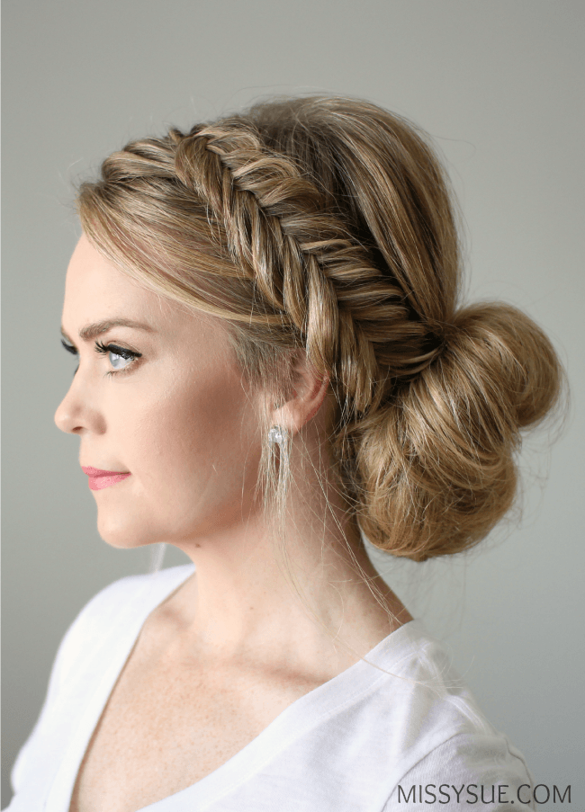 hairstyles for hair up styles fishtail braid updo 8238