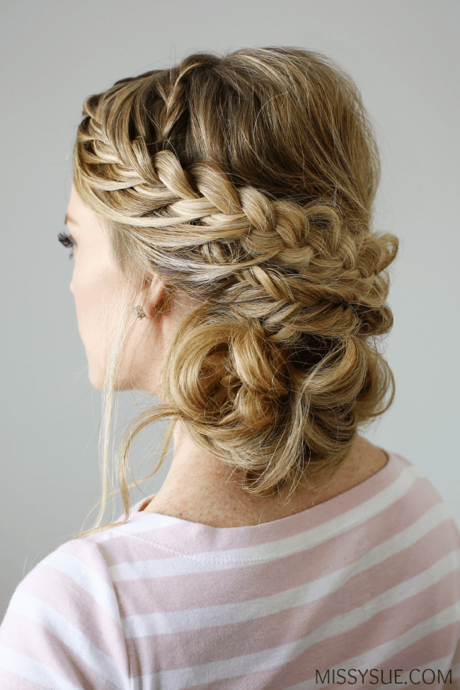 Double Braid Textured Updo