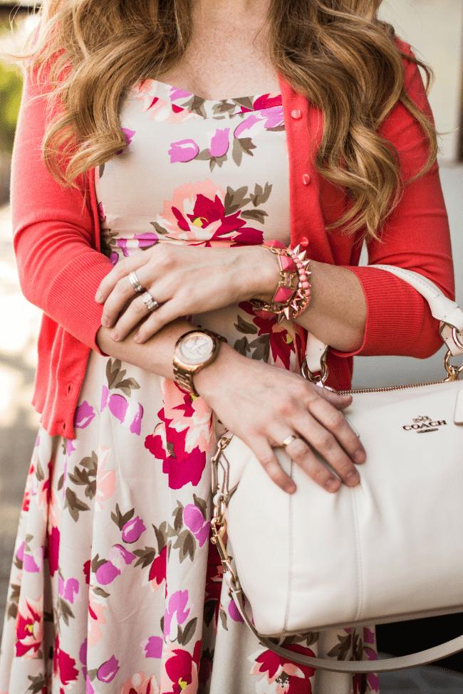 floral-dress-coach-bag