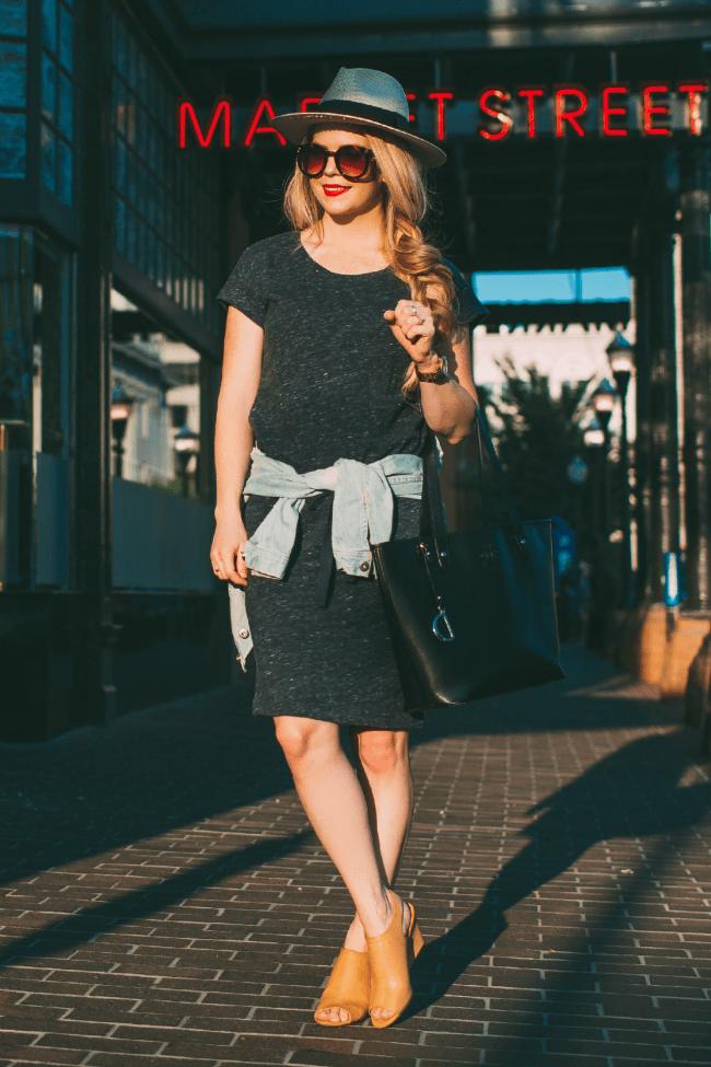 jersey-dress-panama-hat-heels