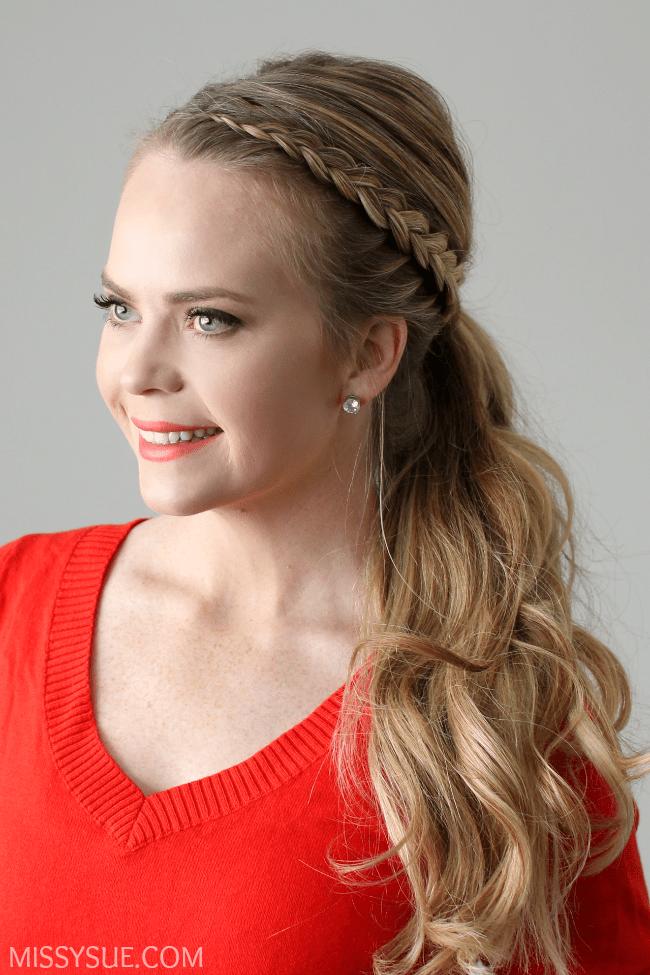 Outstanding Dutch Lace Braid Ponytail Missy Sue Short Hairstyles Gunalazisus