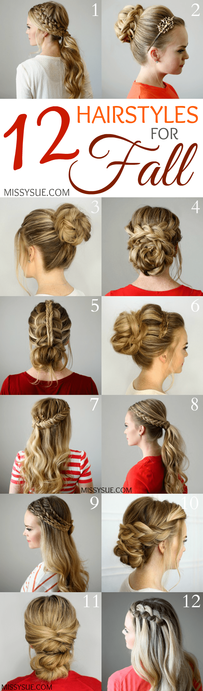 12 Hairstyles for Fall