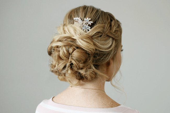 18 Creative And Unique Wedding Hairstyles For Long Hair: Braid Embellished Updo