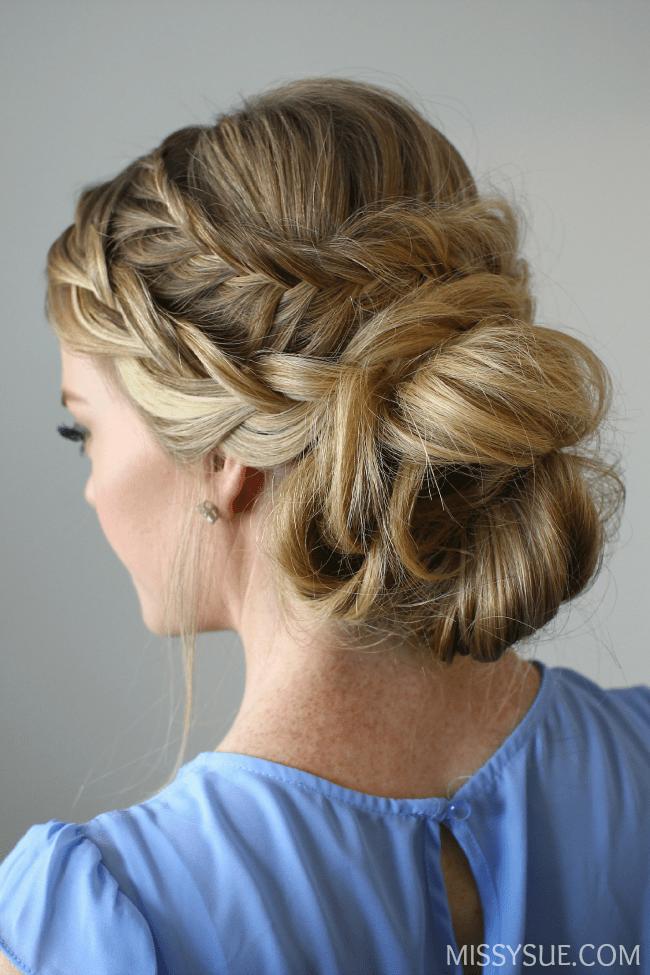 fishtail-french-braid-low-bun