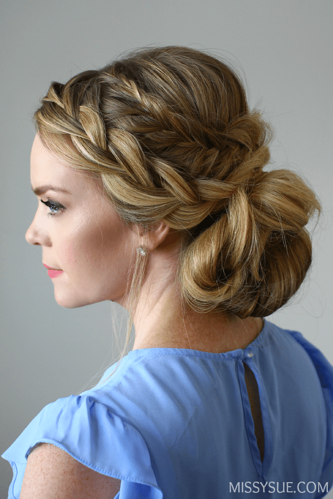 fishtail-french-braid-low-messy-bun