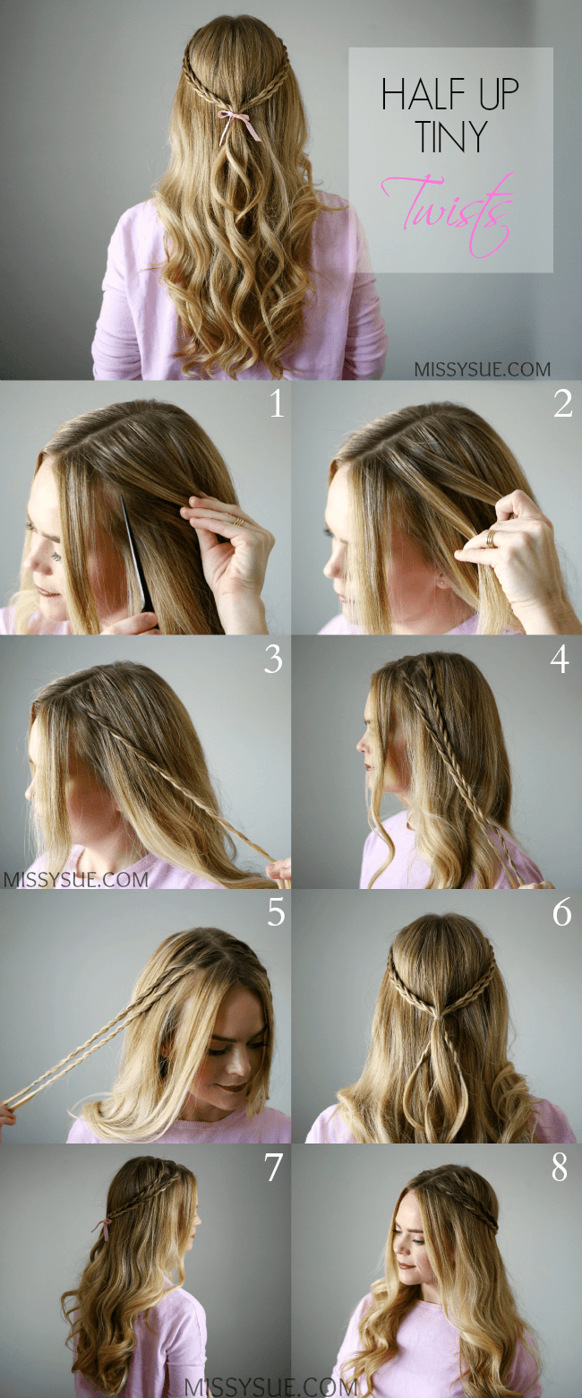 Half Up Tiny Twists