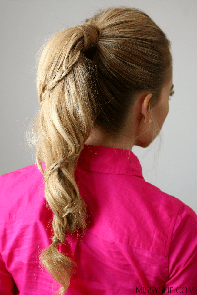 Spiral Braided Ponytail