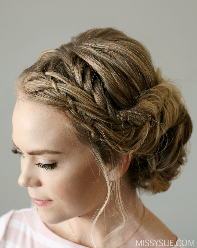 waterfall-braid-fishtail-braid-updo