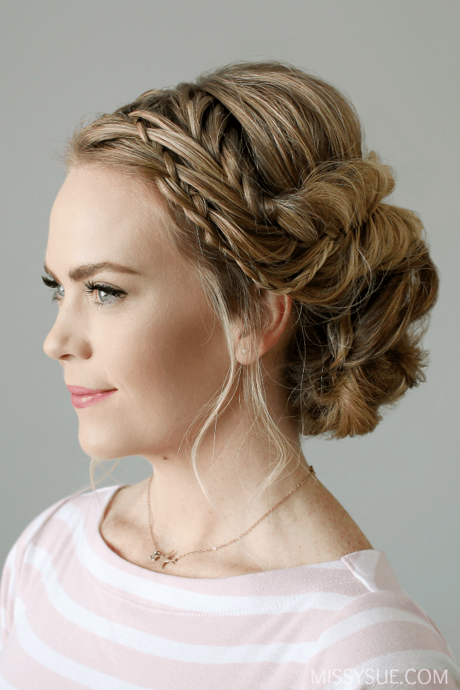 waterfall-fishtail-braid-updo