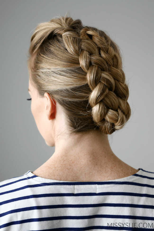 Dutch Mohawk Braid Updo