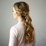 Fishtail Embellished Ponytail
