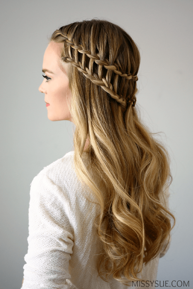 braided prom hair styles half up ladder braid 4903