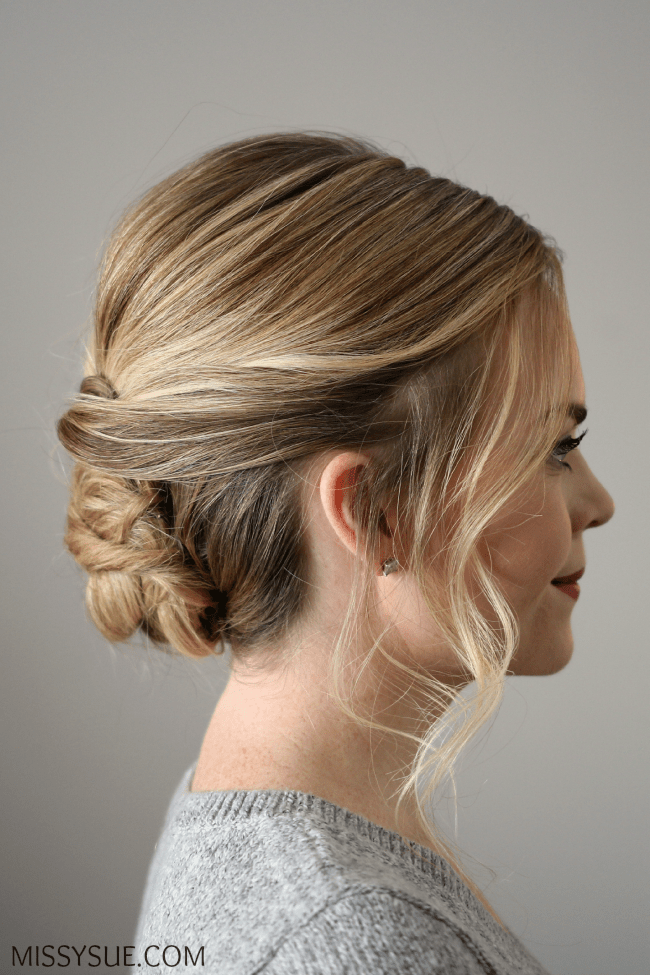 Wrapped Bun Updo
