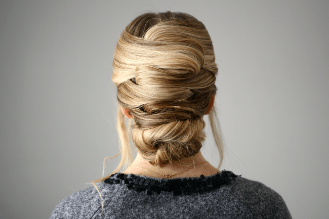 Criss Cross Wrapped Bun