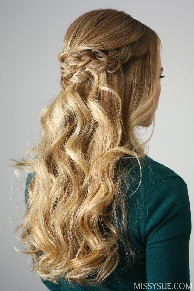 Braid Embellished Half Updo