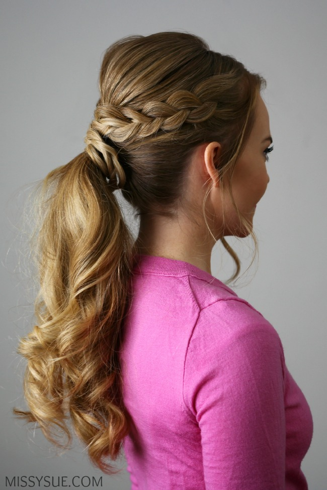 double-braid-ponytail-tutorial