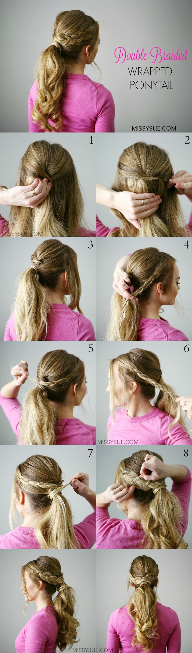 double-braid-wrapped-ponytail-tutorial