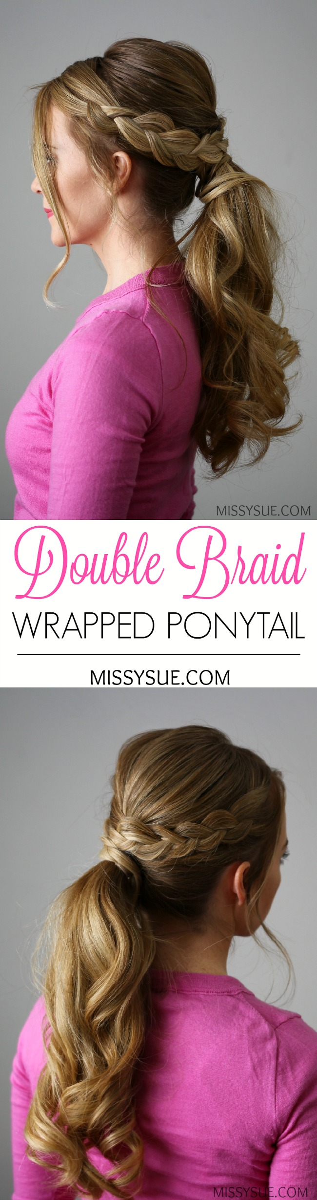 double-braid-wrapped-ponytail