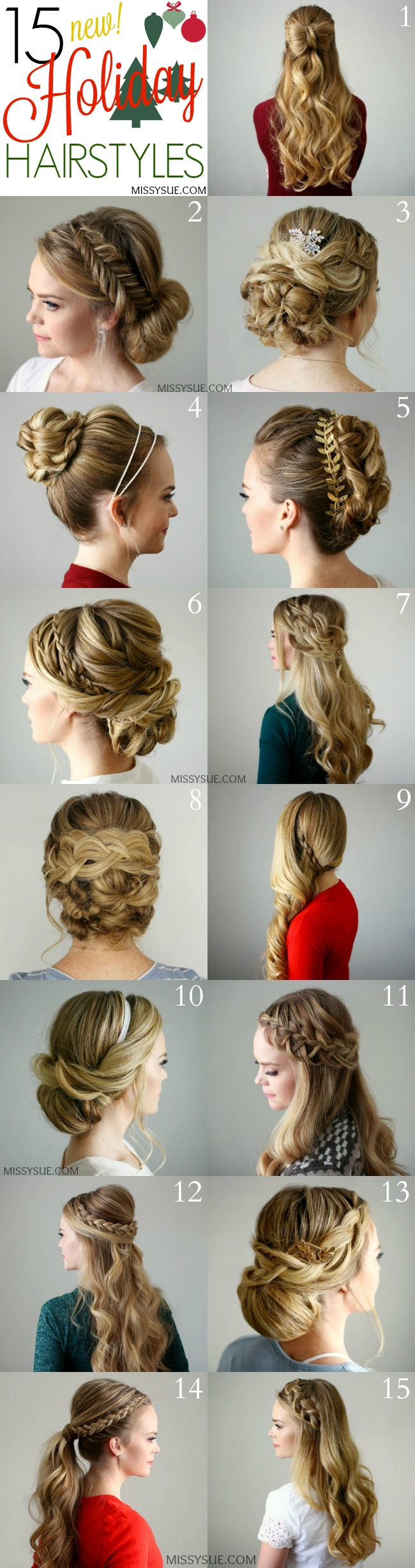15 Holiday Hairstyles Missy Sue