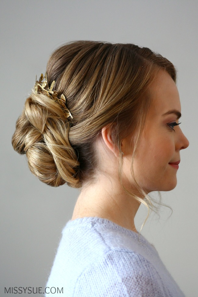 low-bun-updo