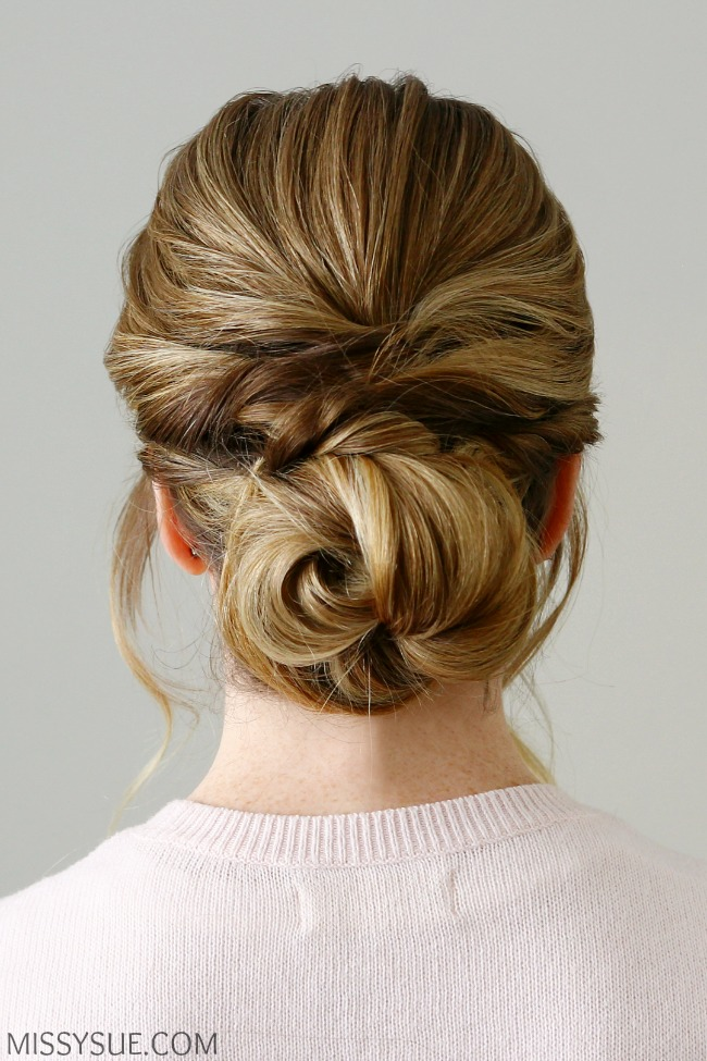Twisted Knot Low Bun