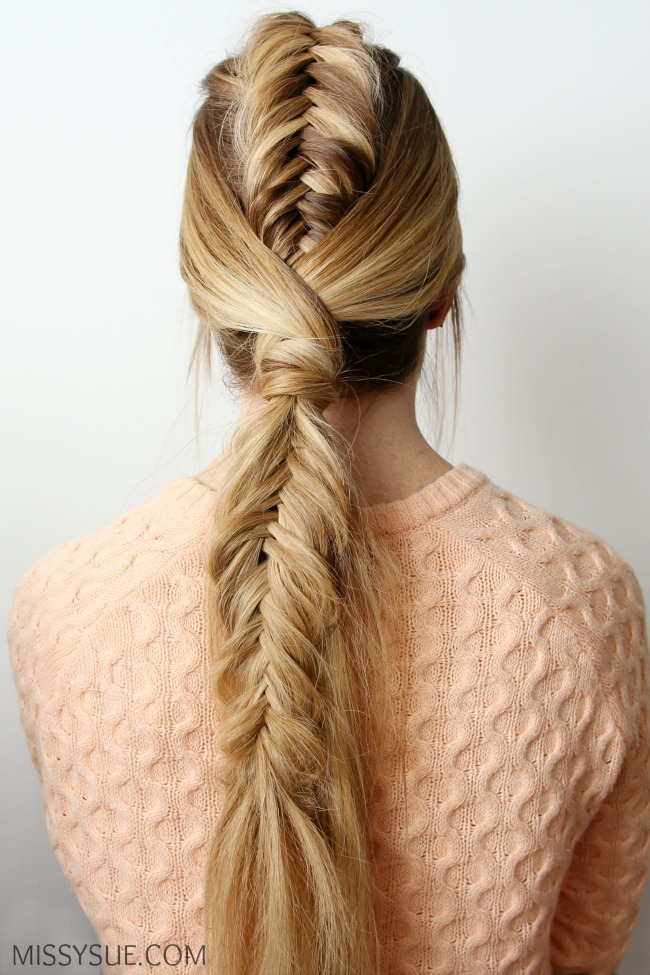 Fishtail Mohawk Ponytail