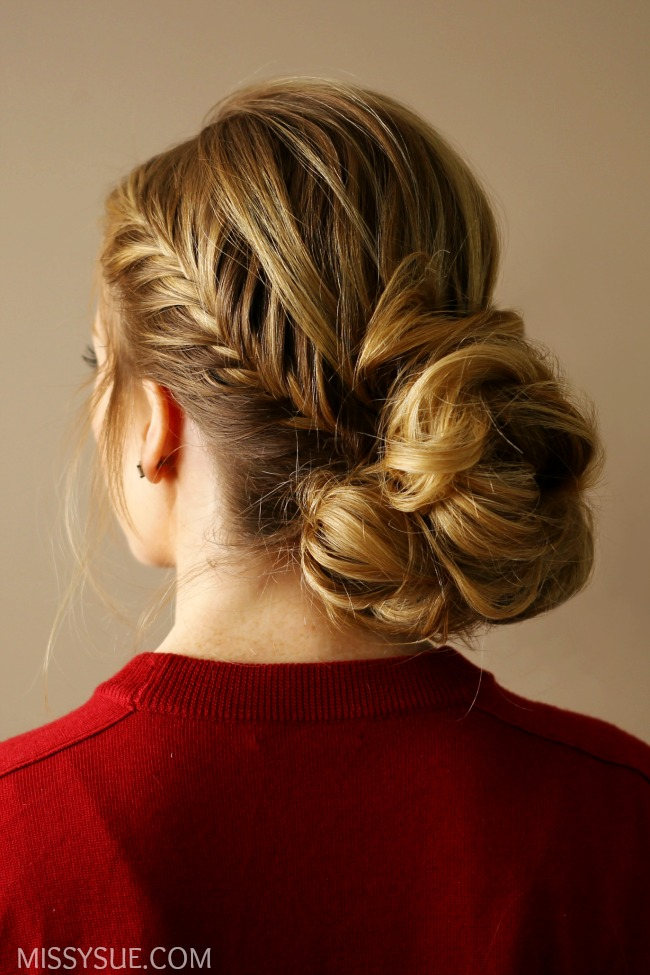 Fishtail Accent Braid Updo
