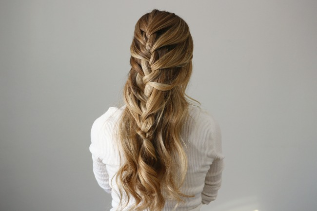 Hairstyles Braids Half Up: Half Up French Braid