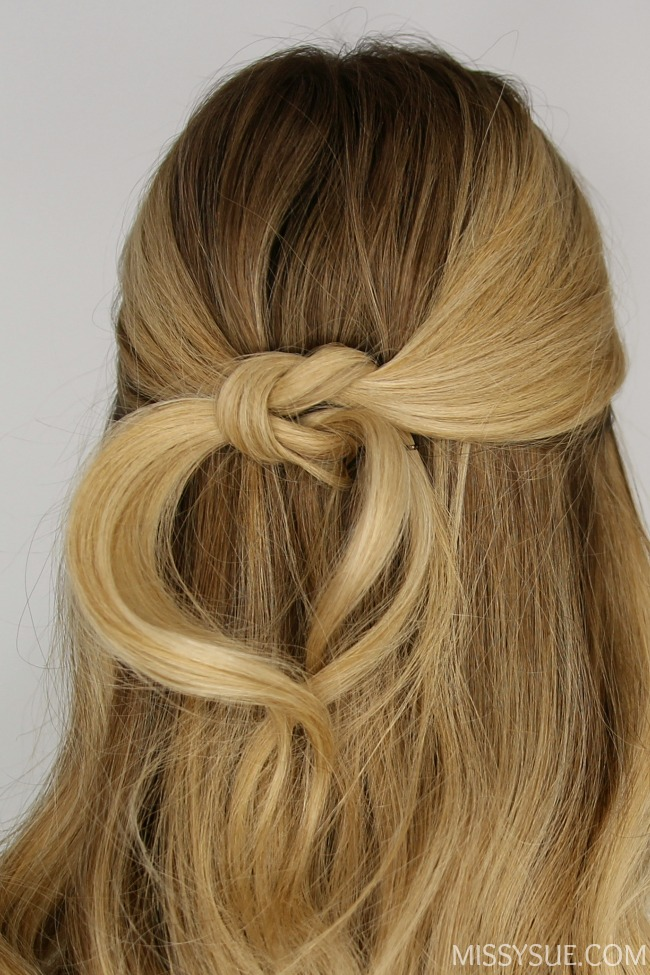 Half Up Square Knot