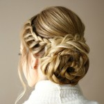 Braid Embellished Rosette Bun