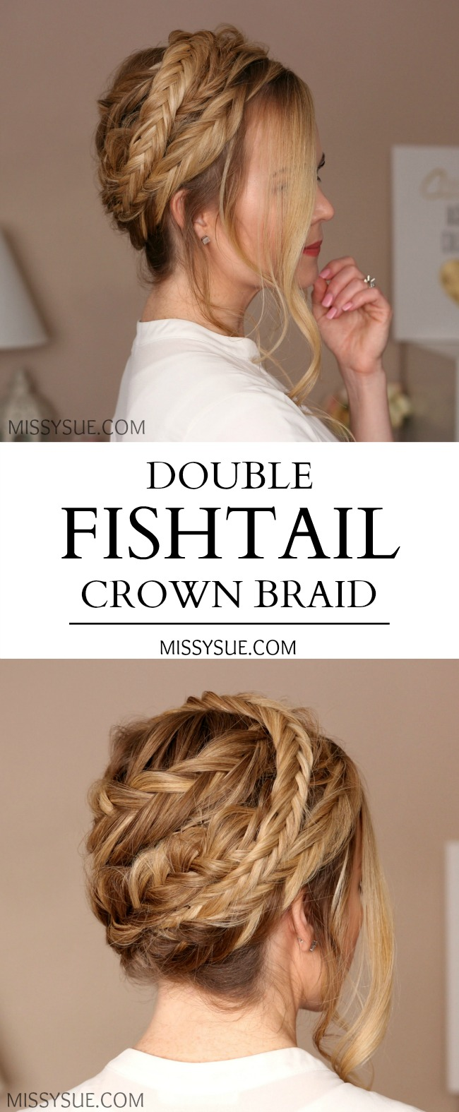 Double Fishtail Crown Braid